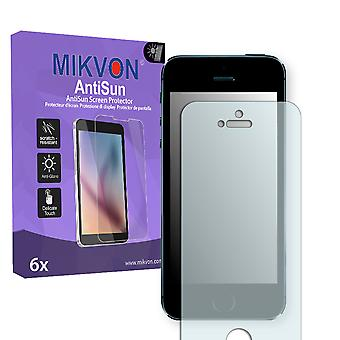 Apple iPhone 5S Screen Protector - Mikvon AntiSun (Retail Package with accessories)