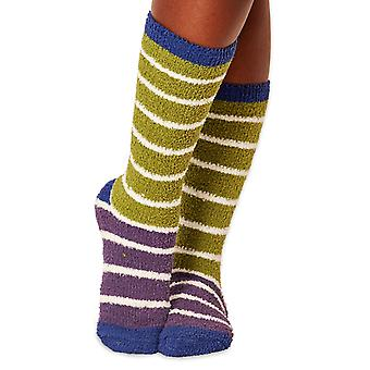 Willoemi women's fluffy socks in aniseed. Recycled polyester, made by Braintree