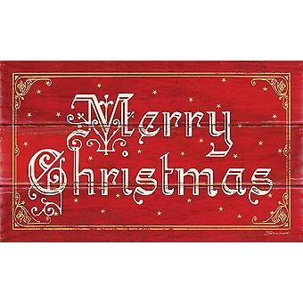 Wesołych Świąt plakat wydrukować przez Stephanie Marrott