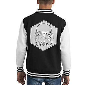 Original Stormtrooper Line Art Hexagon Kid's Varsity Jacket