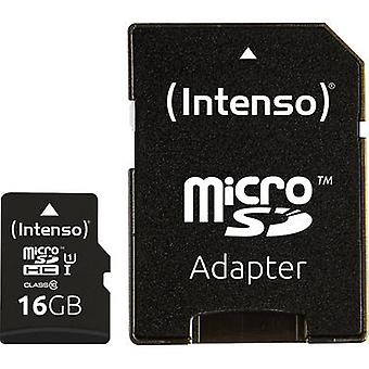 Intenso Premium microSDHC card 16 GB Class 10, UHS-I incl. SD adapter