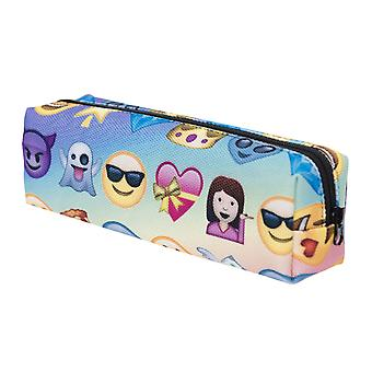 TRIXES Cool Multi-Colour Smiley Face Icons Zip-Up Pencil Case or Cosmetics Holder