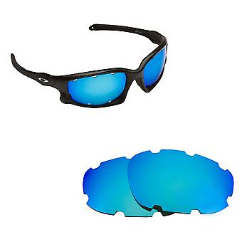 Split Jacket (VENTED) Replacement Lenses Polarized Blue by SEEK fits OAKLEY