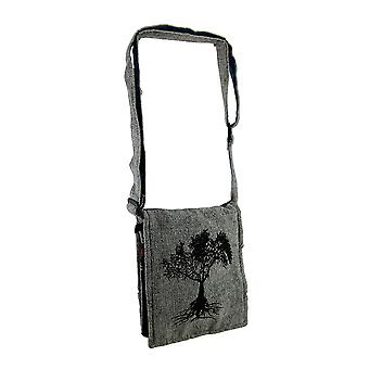 Tree of Life Small Lightly Padded Handcrafted Cross Body Bag