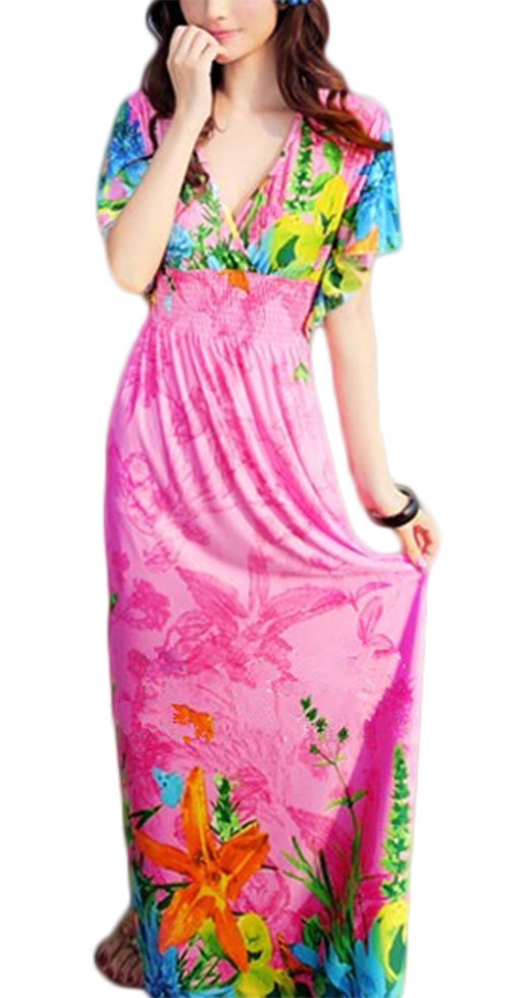 Waooh - Robe de plage motif fleurs Fari