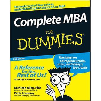 Completar el MBA For Dummies por Kathleen Allen - Peter economía - 97804701