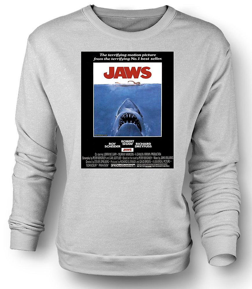 Mens Sweatshirt mors - horreur - Shark - B Movie - Poster