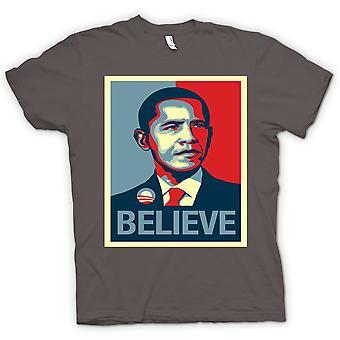 تي شيرت رجالي-أوباما نؤمن بالتغيير