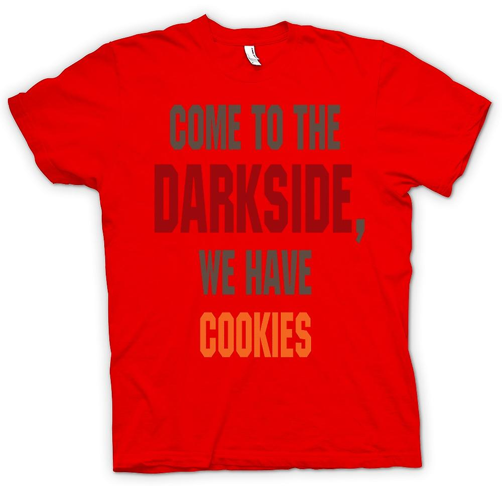 Mens T-shirt - Come To The Darkside, We Have Cookies - Funny