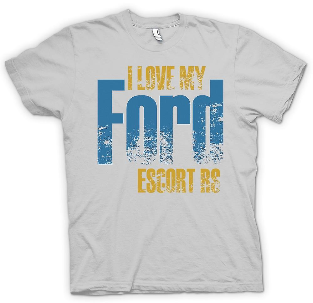 Mens T-shirt - I Love My Ford Escort Rs - Car Enthusiast