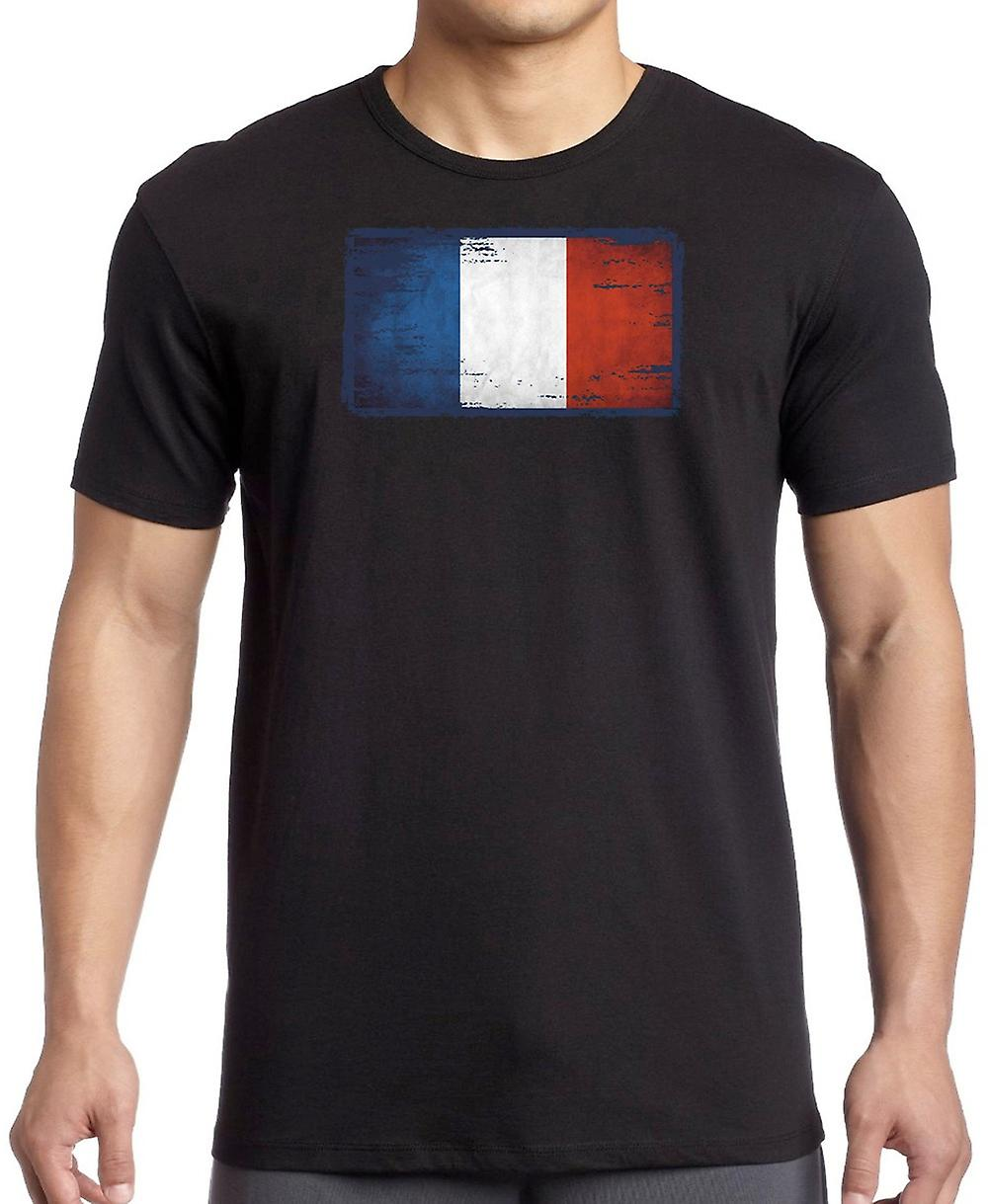 French France Tricolore Grunge Flag T Shirt