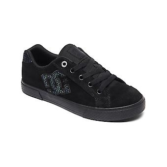 DC Black-Silver-Black Chelsea SE Womens Low Top Shoe