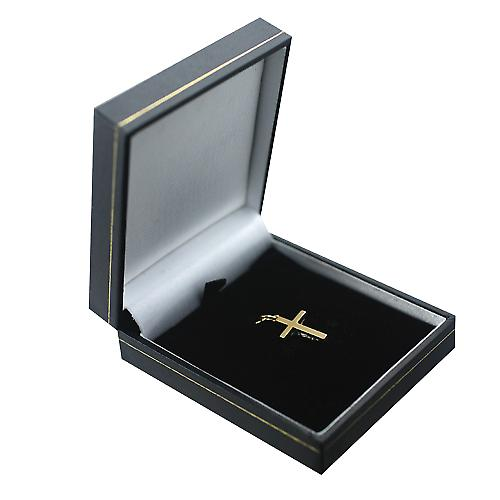 18ct Gold 20x12mm solid block Crucifix Cross
