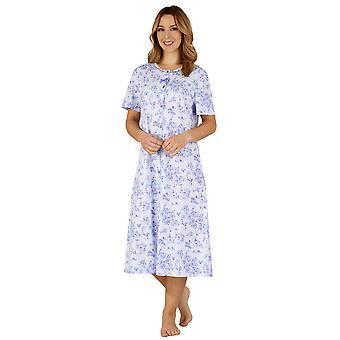 Slenderella ND3103 Women's Cotton Jersey Night Gown Loungewear Nightdress