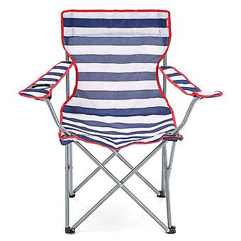 Yello krzesło Beach Camping, łowić ryby lub Beach - pasiasty niebieski/biały