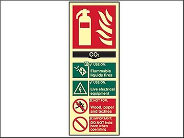 Scan Fire Extinguisher Composite CO2 - Photoluminescent 75 x 200mm
