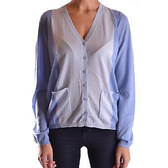 Fendi Light Blue Cotton Cardigan