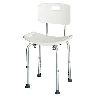 HOMCOM Bath Chair Shower Stool Safety Seat Bathroom Adjustable Positions Elderly Aids