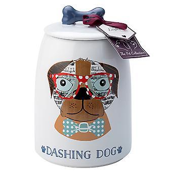English Tableware Co. Perfect Pets Treat Jar, Dashing Dog