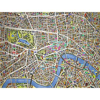 Cityscapes Street Map Of London 400 Piece Jigsaw Puzzle 470mm x 320mm (hpy)