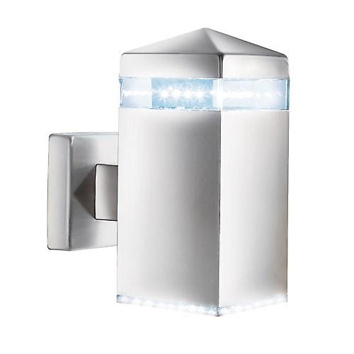 Searchlight 7205 Led Outdoor Modern Satin Silver Wall Light IP44 Rated