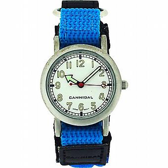 Cannibal Active Boys Aqua Blue-Black Easy Fasten Strap Childrens Watch CK002-05