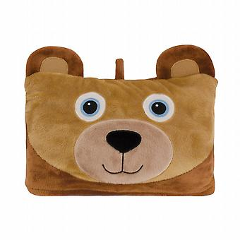 Aroma Home Cosy Up Kids Animal Hooded Blanket: Bear