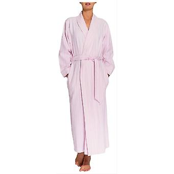 British Boxers Westwood Stripe Two Fold Flannel Robe - Pink
