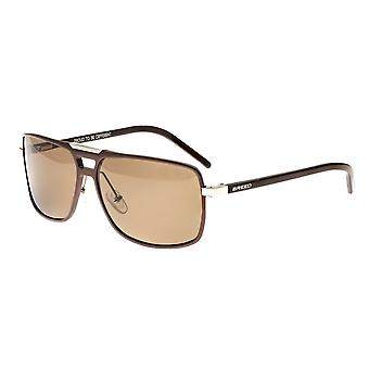 Breed Aurora Aluminium Polarized Sunglasses - Brown/Brown