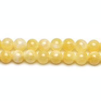 Aktionsbereich 38 + gelbe Honig Jade 10mm einfache Runde Perlen CB24562-4