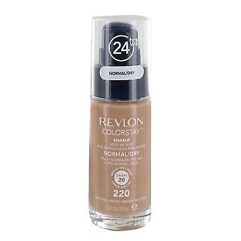 Revlon Colorstay Makeup Foundation SPF6 30ml for Normal or Dry Skin - #220 Natural Beige