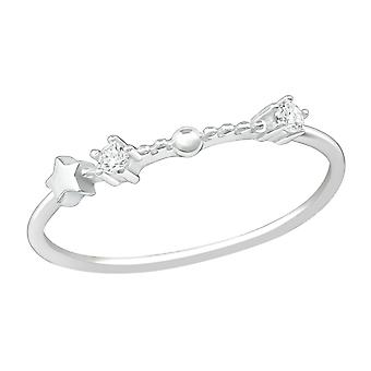 January-Aquarius - 925 Sterling Silver Jewelled Rings - W38658X