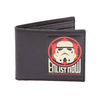 Star Wars Wallet The Galactic Empire Enlist now new Official Black Bifold