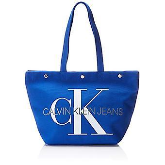 Calvin Klein Jeans Canvas Utilitaire Ew Bottom Tote M - Blue Women's Bags (NAUTICAL BLUE) 15x31x46 cm (B x H T)