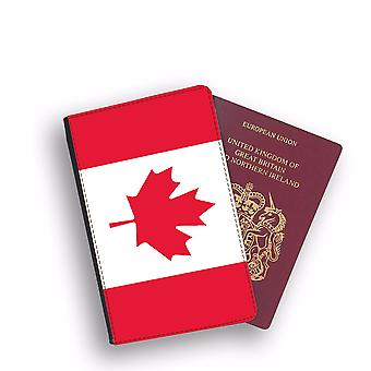 CANADA Flag Passport Holder Style Case Cover Protective Wallet Flags design