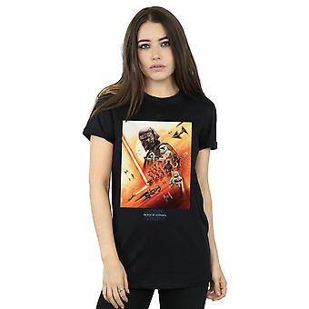 Star Wars The Rise Of Skywalker First Order Poster Women's Boyfriend Fit T-Shirt