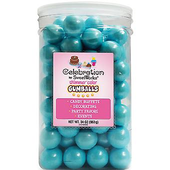 Gumballs Jar 34oz-Shimmer (TM) Powder Blue SCGUM34-74020