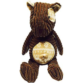 Nandog My BFF Knitted Corduroy Bear Toy-Brown BF15B