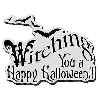 Stampendous Halloween Cling Rubber Stamp Witching U Crv285
