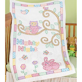 Stamped White Quilt Crib Top 40