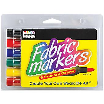 Fabric Marker Broad Tip 6 Pkg Primary 520 6 A