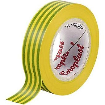 Electrical tape Coroplast Green-yellow (L x W) 10 m x 15 mm Acrylic Content: 1 Rolls