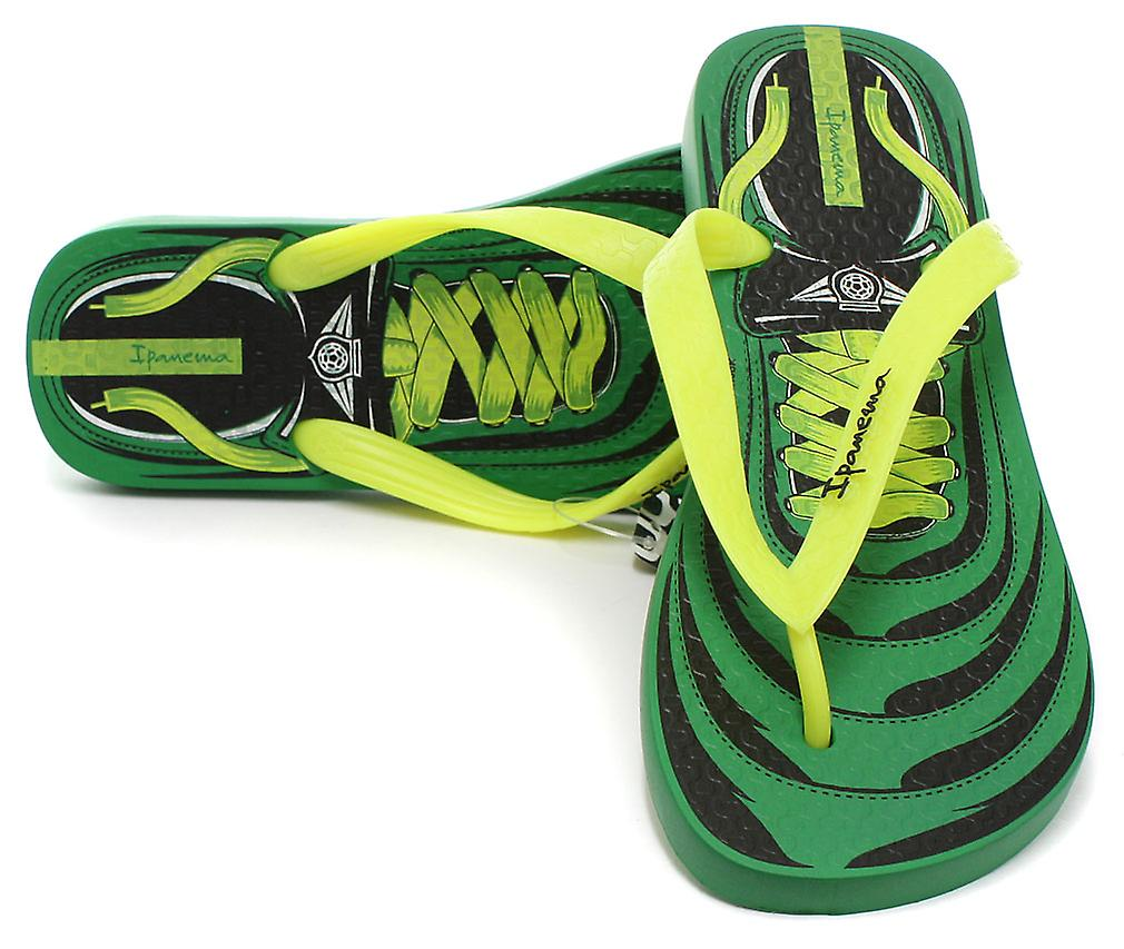 Ipanema Brasil Laces Green Junior Summer Flip Flops