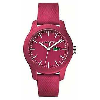 Lacoste Unisex Pink Rubber Strap Pink Dial 2000957 Watch