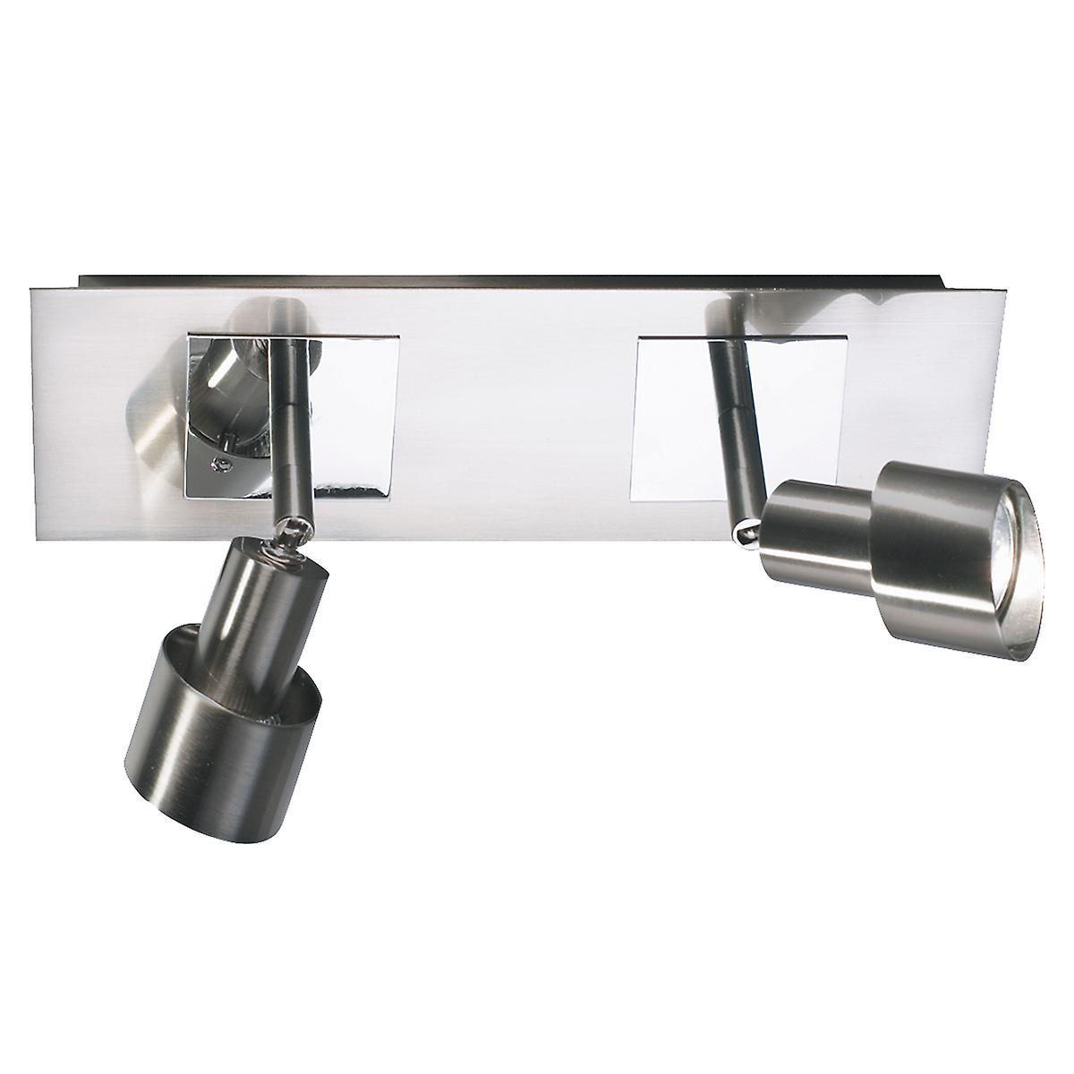 Dar FUT7746 Futura Switched Halogen Wall Spotlight Bar