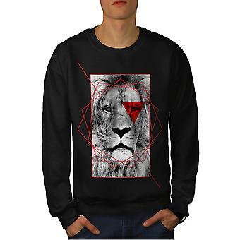 Lion Cool Design Fashion Men Black Sweatshirt | Wellcoda