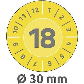 Avery-Zweckform 6940 Labels (hand writable) Ø 30 mm Yellow 80 pc(s) Permanent Test labels