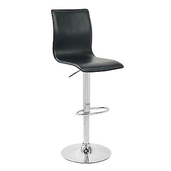 Ellan Swivel Bar Stool Faux Leather Cushioned Seat Height Adjustable