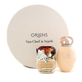 Van Cleef & Arpels Oriens Coffret: Eau De Parfum Spray 50ml / 1,7 oz + Body Lotion 150 ml/5 oz (Runde Box) 2ST