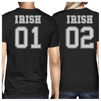 Irish 01 Irish 02 Black Funny Couple T Shirts For St Patricks Day